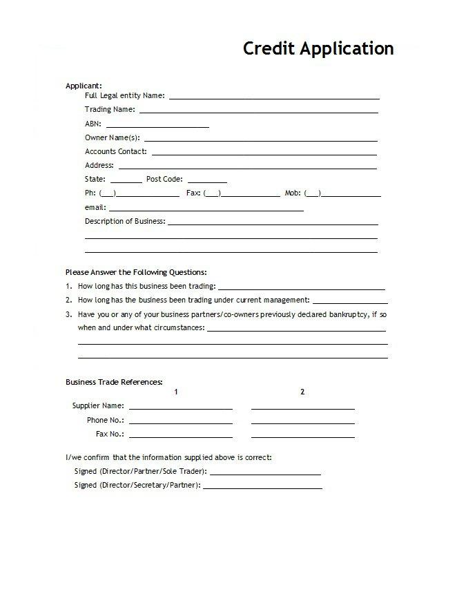 Credit Application Form 11