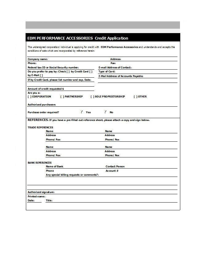 Credit Application Form 14