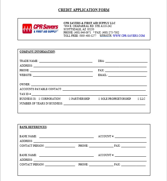 Credit Application Form 18