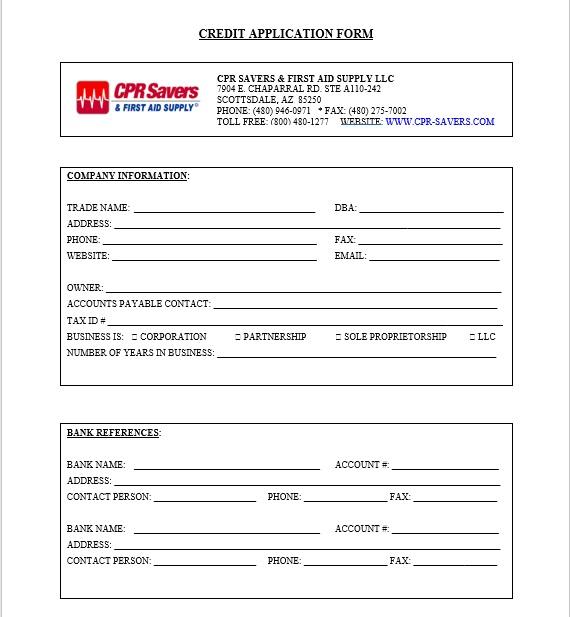 Credit Application Form 18