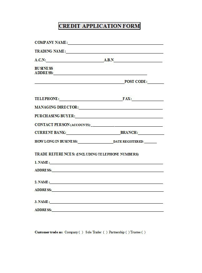 Credit Application Form 21