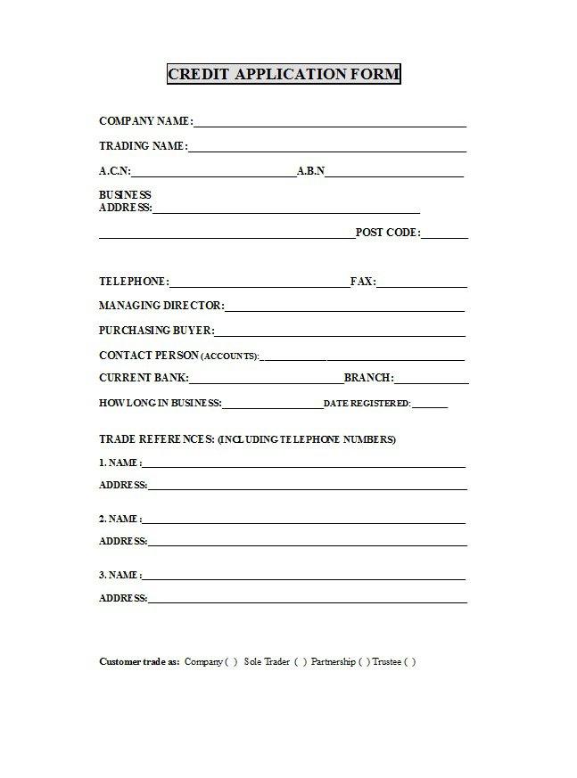 Credit Application Form 21