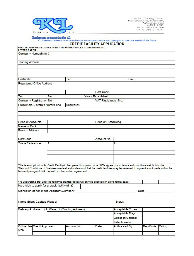 Credit Application Form 24