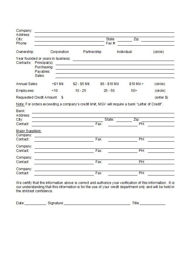 Credit Application Form 28