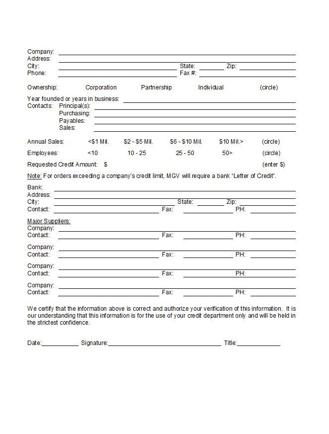 Credit Application Form 28