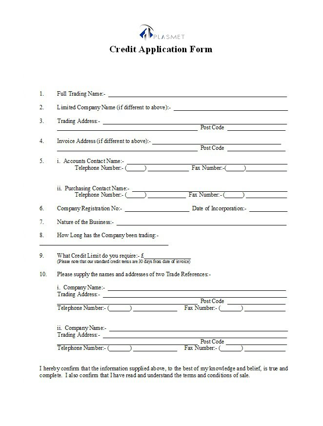 Credit Application Form 29