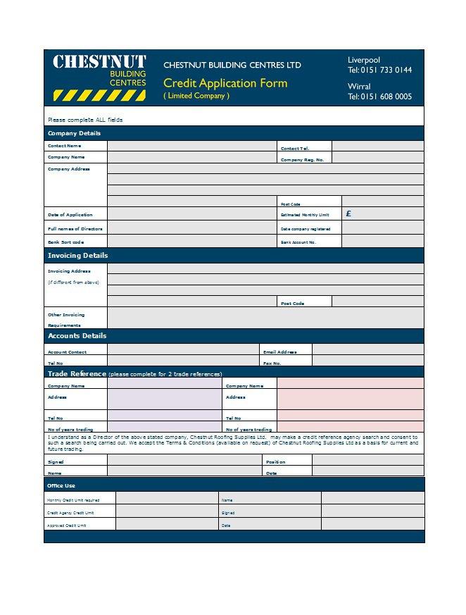 Credit Application Form 30