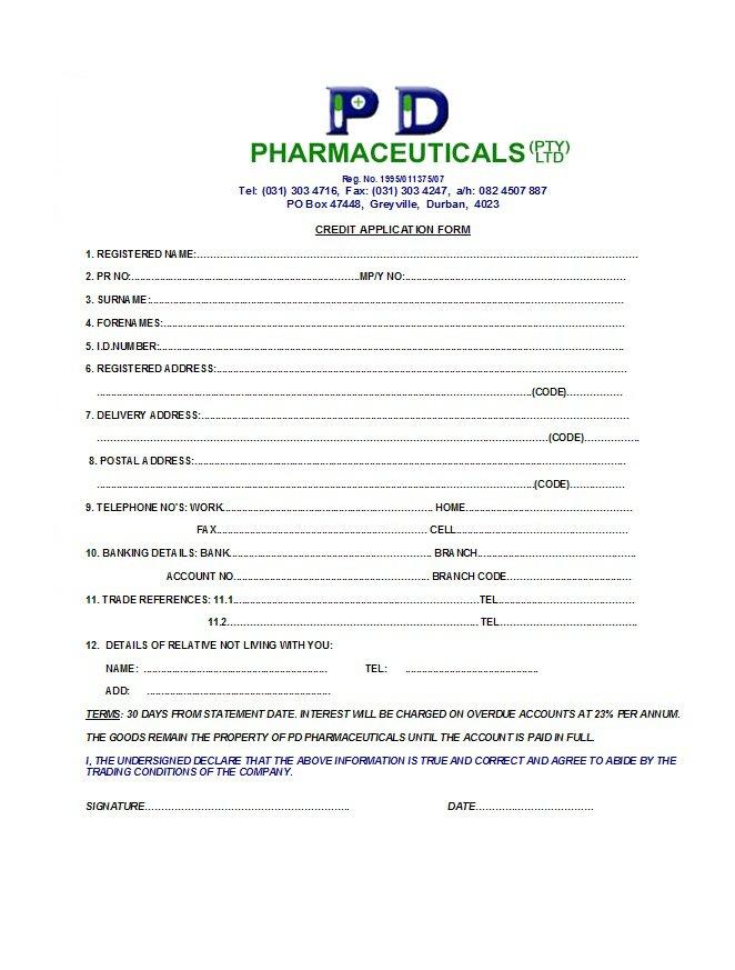 Credit Application Form 31