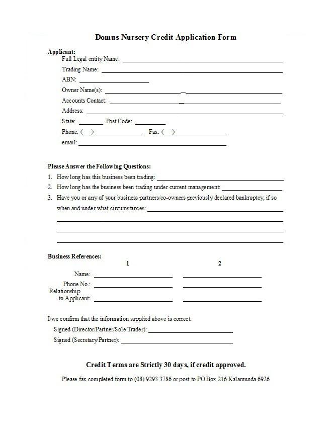 Credit Application Form 33