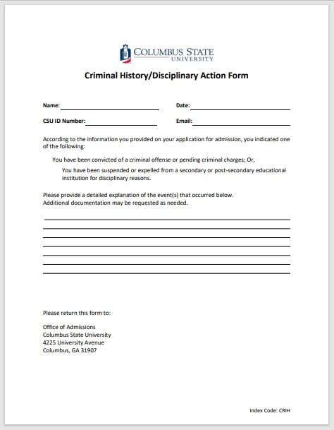 Disciplinary Action Form 10
