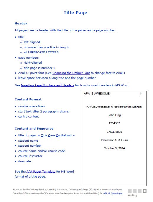 APA Format Template 01