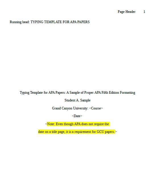 apa format template 14