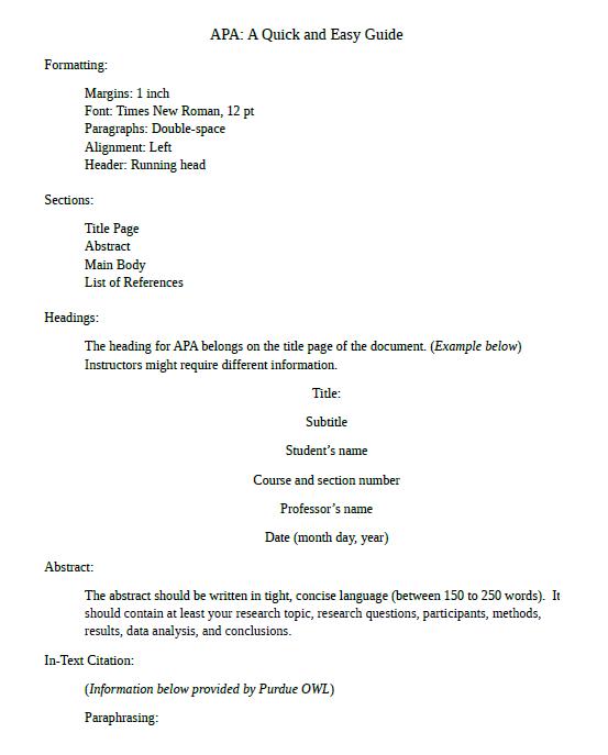 apa format template 19