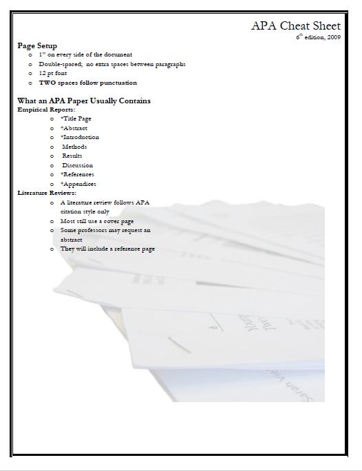 apa format template 23