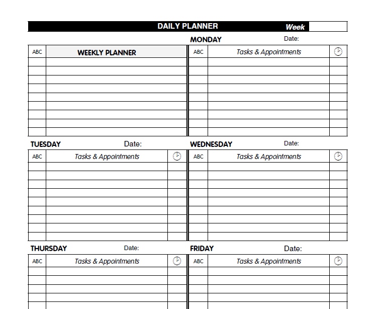 daily planner template 07