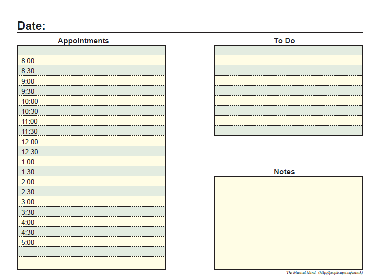 daily planner template 10