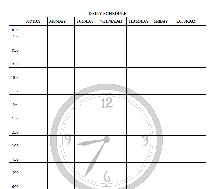 daily planner template 11