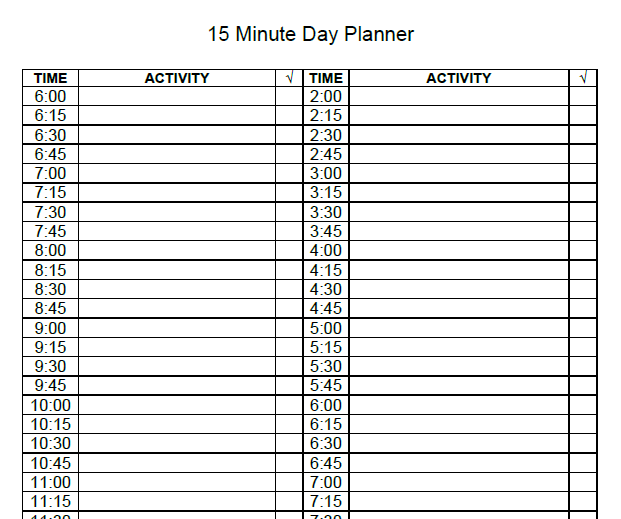 daily planner template 16