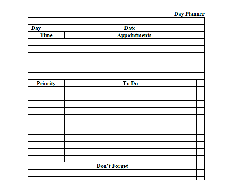 daily planner template 18
