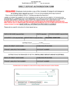 Direct Deposit Authorization Form 04