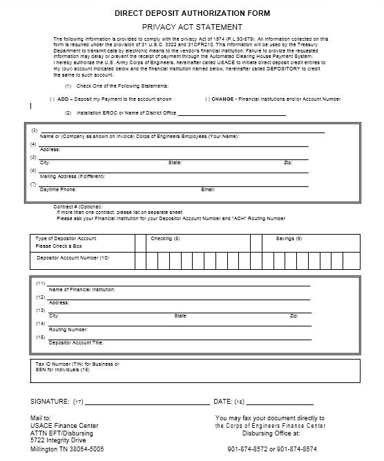 Direct Deposit Authorization Form 11