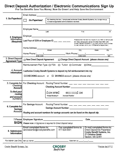 Direct Deposit Authorization Form 21