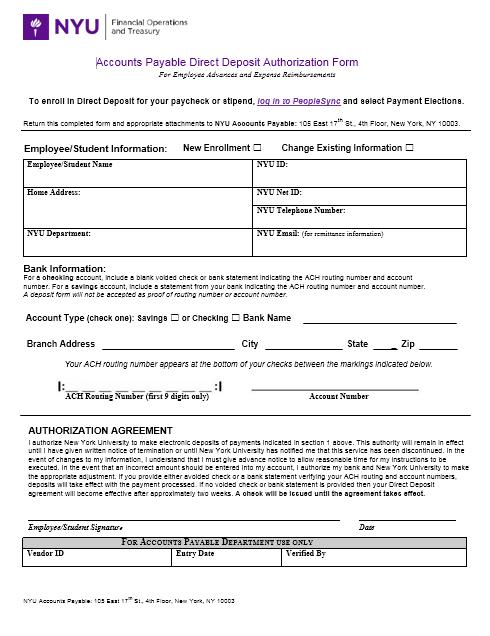 Direct Deposit Authorization Form 23