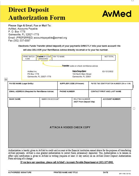 Direct Deposit Authorization Form 24