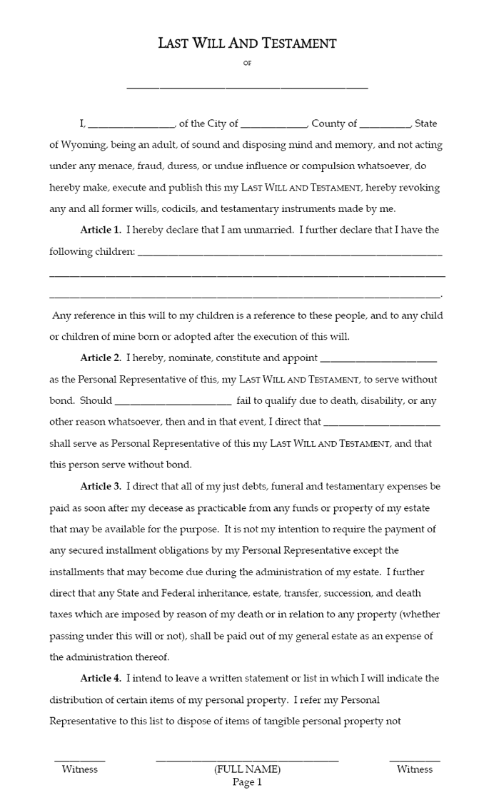Last will and Testament template 08