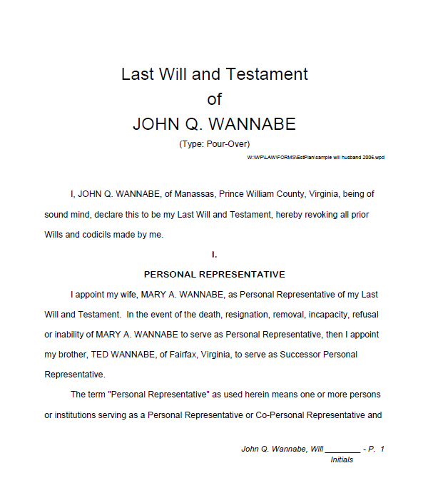 Last will and Testament template 09