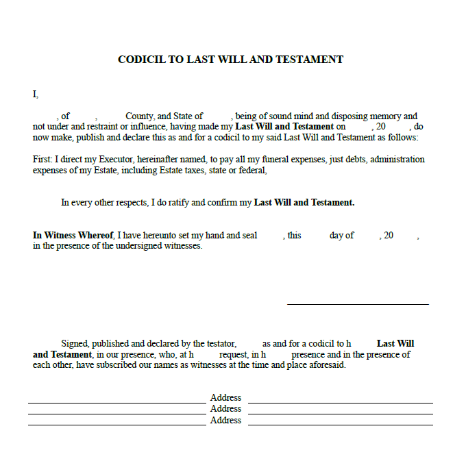 Last will and Testament template 11