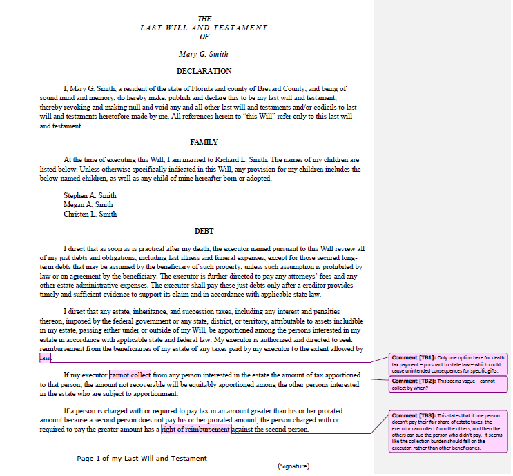 Last will and Testament template 16