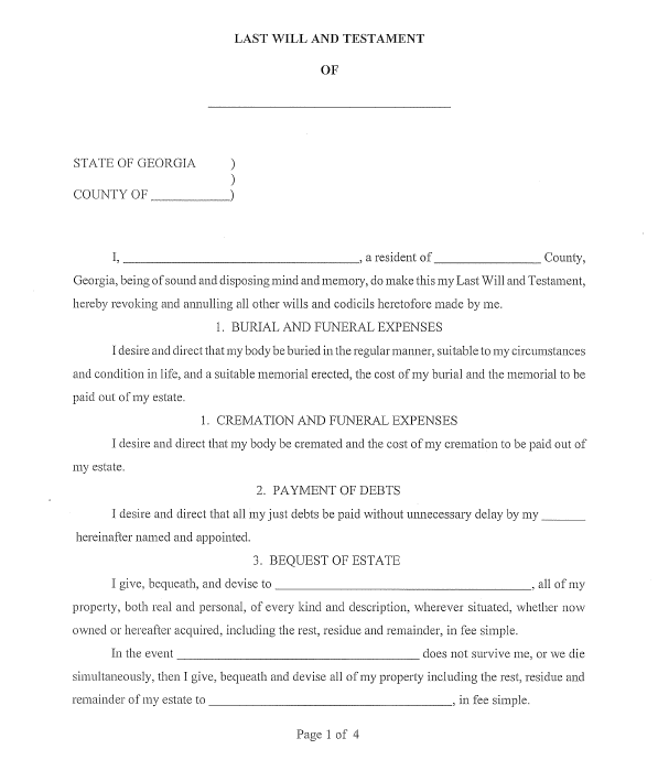 Last will and Testament template 17