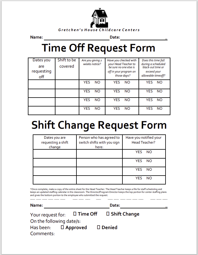 time off request form template 37