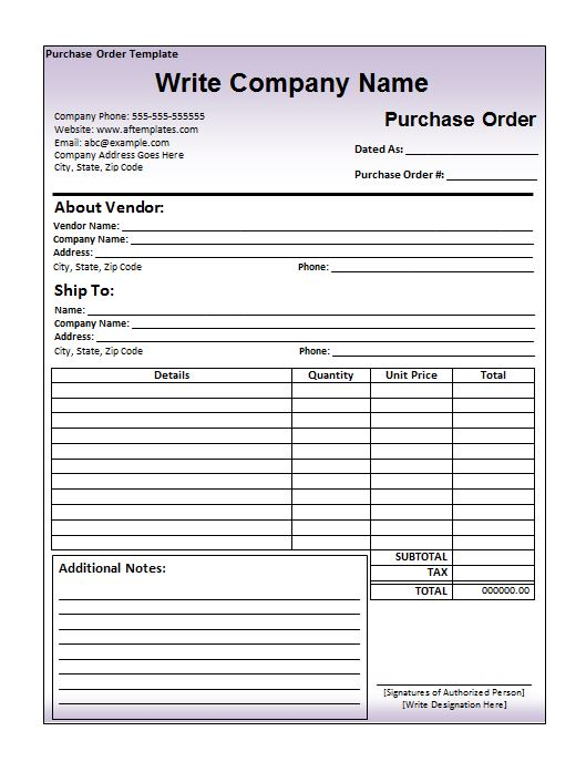 Purchase Order Template 04
