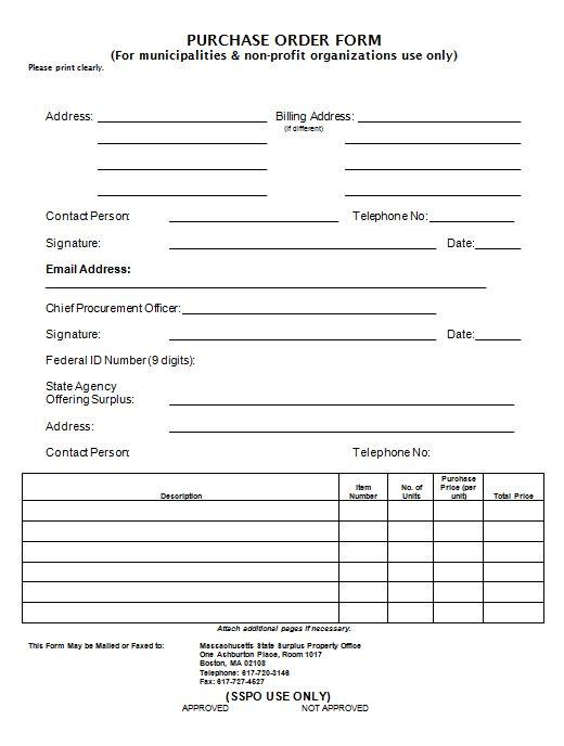 Purchase Order Template 19
