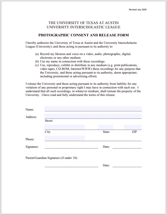 photo release form 07