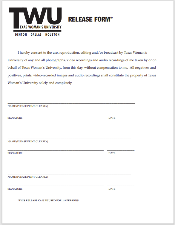 photo release form 10