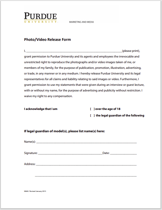 photo release form 11