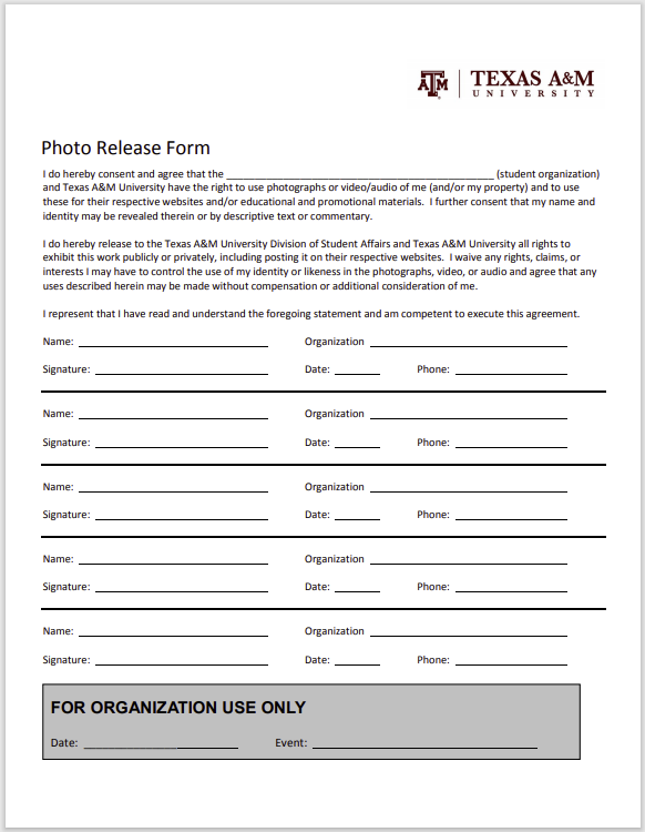 photo release form 12