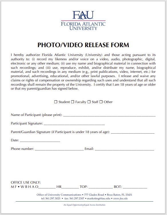 photo release form 16