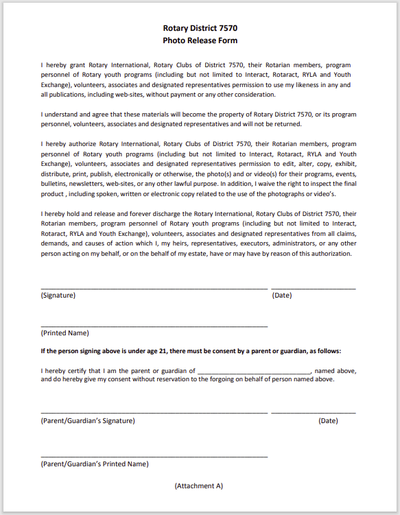 photo release form 19