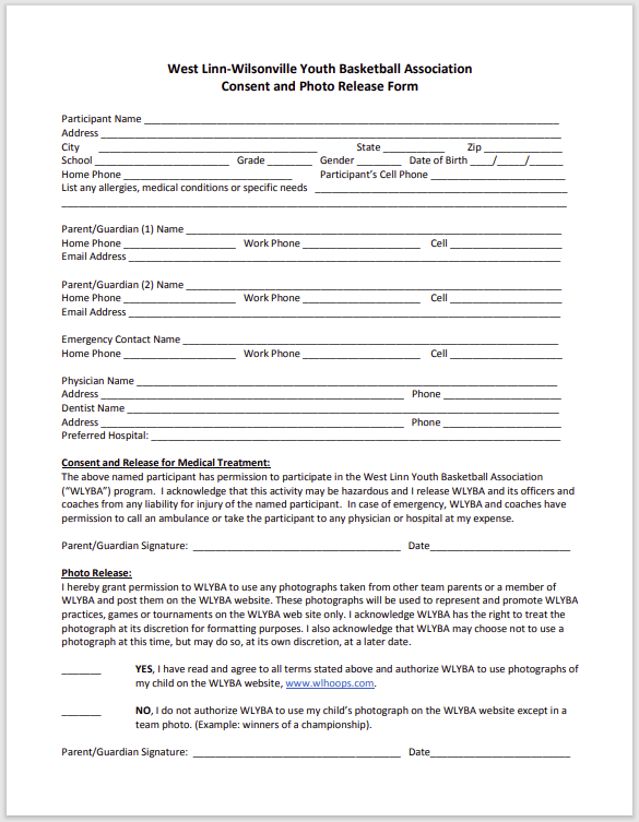 photo release form 24