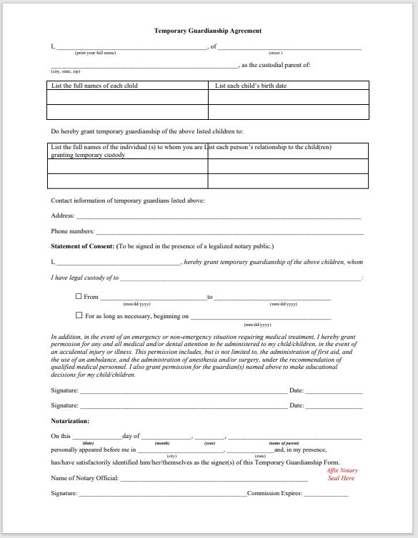 guardianship form 018