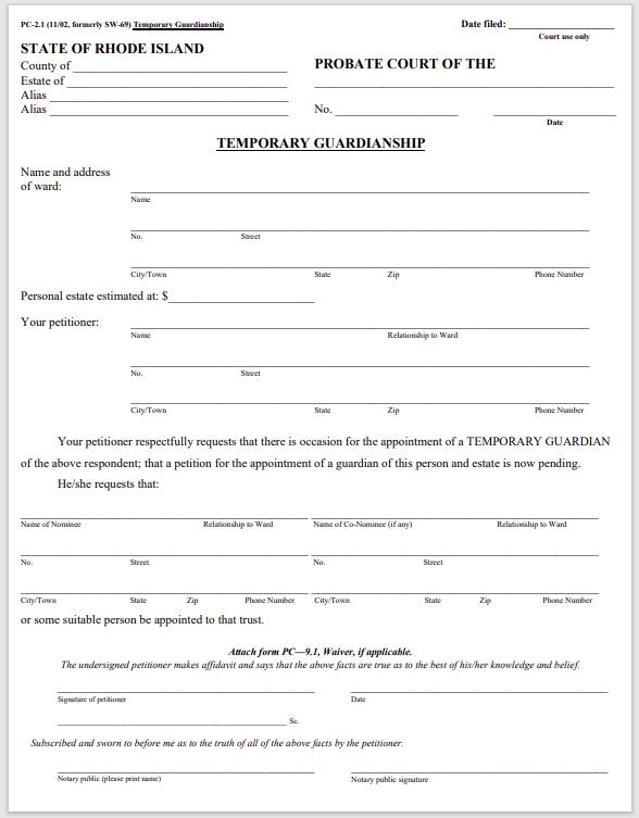 guardianship form 020